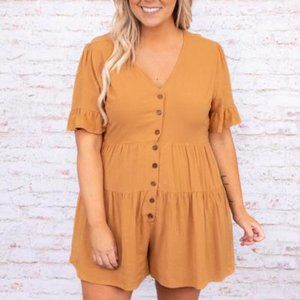 CHIC SOUL Spring's First Bloom Romper 2X